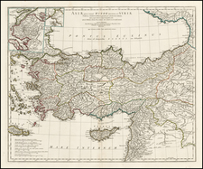 Turkey, Balearic Islands and Turkey & Asia Minor Map By Jean-Baptiste Bourguignon d'Anville
