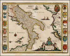 Italy and Balearic Islands Map By Matheus Merian