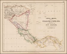 Central America Map By Henry Darwin Rogers  &  Alexander Keith Johnston