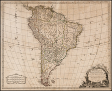 South America Map By Gilles Robert de Vaugondy