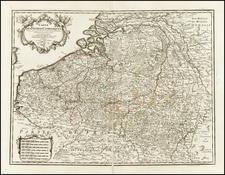 Belgium Map By Philippe Buache