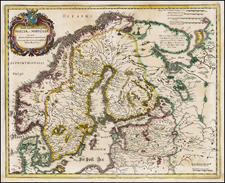 Scandinavia Map By Matthaus Merian