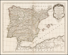 Spain Map By Philippe Buache