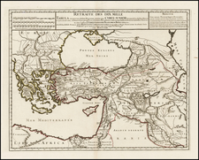Europe, Ukraine, Greece, Turkey, Balearic Islands, Central Asia & Caucasus, Holy Land, Turkey & Asia Minor and North Africa Map By Philippe Buache