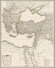 Mediterranean, Turkey & Asia Minor, Egypt, Balearic Islands and Greece Map By Jean-Baptiste Bourguignon d'Anville