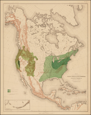 United States, North America and Canada Map By Julius Bien & Co.