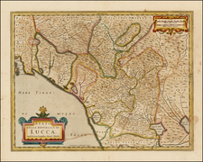 Italy Map By Henricus Hondius