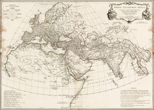 World, World, Asia, Asia, Africa and Africa Map By Jean-Baptiste Bourguignon d'Anville
