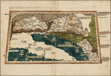 Balkans and Italy Map By Claudius Ptolemy / Lienhart Holle
