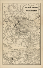 Southwest Map By Santa Fe Railroad