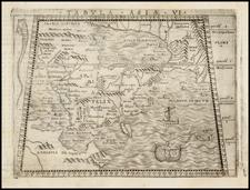 Turkey and Turkey & Asia Minor Map By Giacomo Gastaldi