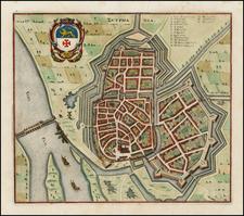 Netherlands Map By Matheus Merian