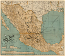 Mexico Map By Poole Brothers