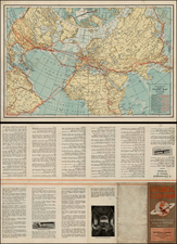World, World, Polar Maps, Atlantic Ocean, United States, North America, South America and America Map By Rand McNally & Company