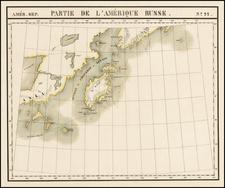 Alaska Map By Philippe Marie Vandermaelen