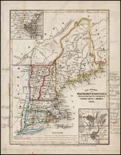 New England Map By Joseph Meyer