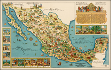 Mexico Map By Fischgrund Publishing Company