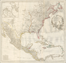 North America Map By Jean-Baptiste Bourguignon d'Anville