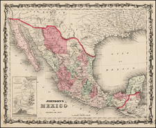 Mexico Map By Benjamin P Ward  &  Alvin Jewett Johnson
