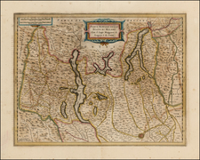 Italy and Northern Italy Map By Henricus Hondius