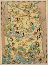 South and Alabama Map By Ruth Taylor White