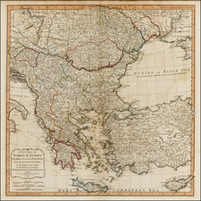 Balkans, Greece, Turkey, Balearic Islands and Turkey & Asia Minor Map By Richard Holmes Laurie  &  James Whittle