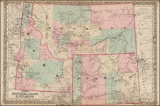 Plains and Rocky Mountains Map By G.W.  & C.B. Colton