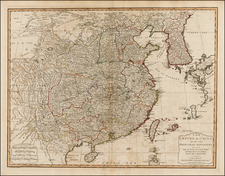 China and Korea Map By Laurie & Whittle