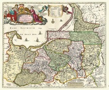 Europe, Germany and Baltic Countries Map By Nicolaes Visscher I