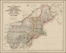 New England Map By Henry Darwin Rogers  &  Alexander Keith Johnston