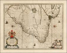 Brazil Map By Willem Janszoon Blaeu