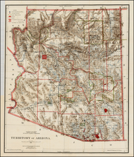Southwest and Arizona Map By General Land Office