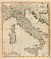 Italy and Balearic Islands Map By Laurie & Whittle