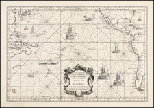 Australia & Oceania, Pacific, Australia and Oceania Map By Depot de la Marine