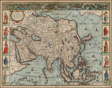 Asia with the Islands adioyning described, the atire of the people, & Townes of importance, all of them newly augmented . . . 1626 By John Speed