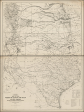 Texas, Plains, Southwest and Rocky Mountains Map By United States Bureau of Topographical Engineers