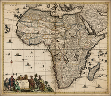 Africa and Africa Map By Justus Danckerts