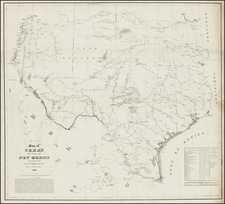 Texas, Plains and Southwest Map By United States Bureau of Topographical Engineers