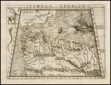 Spain, Mediterranean, Balearic Islands and North Africa Map By Giacomo Gastaldi