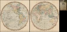 World, World, Eastern Hemisphere, Western Hemisphere and Curiosities Map By William Darton