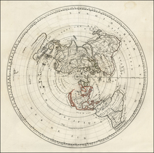 World, World, Polar Maps, Australia and New Zealand Map By Jean-Baptiste Nolin / Giovanni Domenico Cassini
