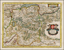 France and Italy Map By Matthaus Merian