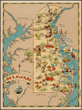 New England and Mid-Atlantic Map By Ruth Taylor White