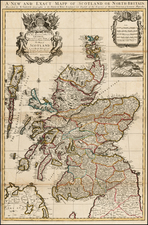 Scotland Map By Henry Overton