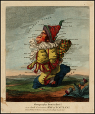 Scotland, Curiosities and Comic & Anthropomorphic Map By Jonathan Carver  &  Thomas Bowles