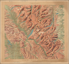 Rocky Mountains Map By U.S. Geological Survey