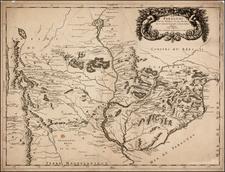 Paraguay & Bolivia Map By Nicolas Sanson