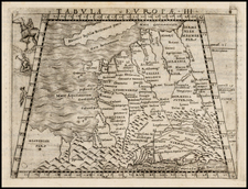 France Map By Giacomo Gastaldi