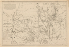 Southwest and Rocky Mountains Map By United States Bureau of Topographical Engineers