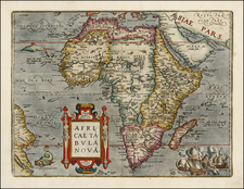 Africa and Africa Map By Abraham Ortelius